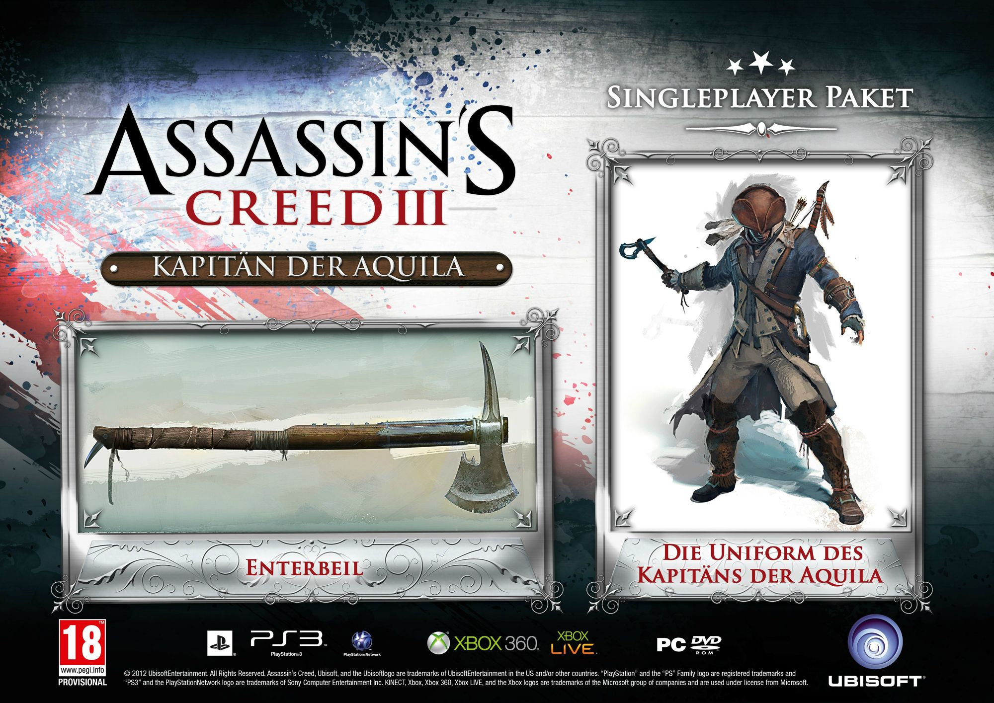 assassinscreed3 dlc exclusif preco 2 Assassin's Creed 3 : Des bonus de précommande en Allemagne  precommande Assassin's Creed 3