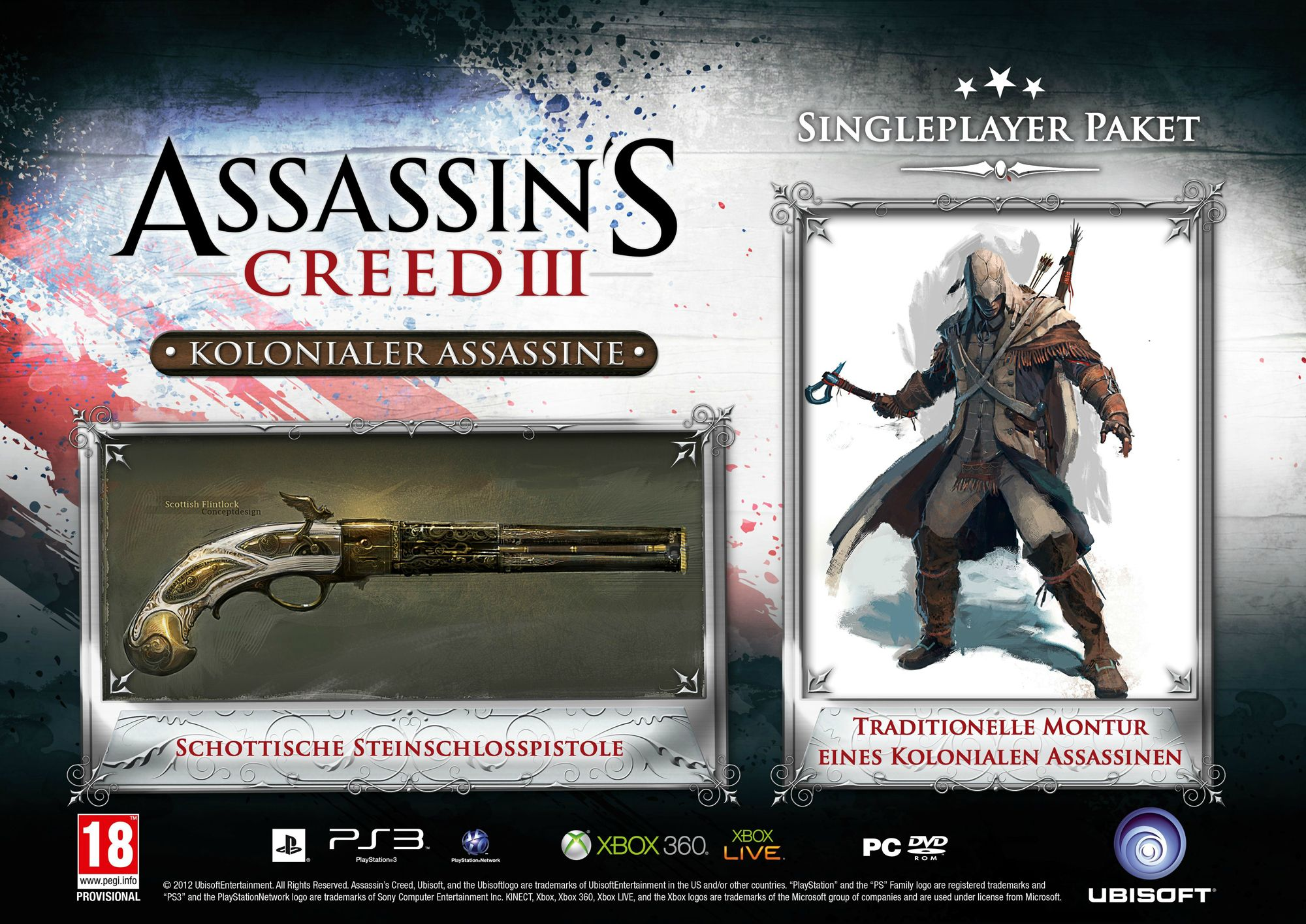 assassinscreed3 dlc exclusif preco 3 Assassin's Creed 3 : Des bonus de précommande en Allemagne  precommande Assassin's Creed 3