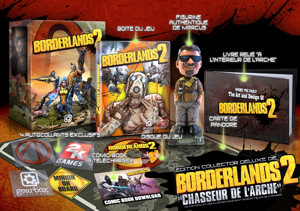 2K Games Borderlands 2 Edition Collector Deluxe de Borderlands 2 Chasseur de lArche Borderlands 2: Les éditions collectors  collector borderlands 2