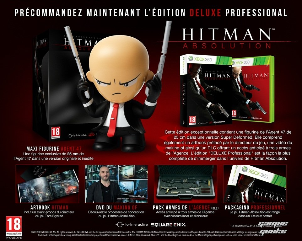 hitman absolution edition deluxe professional Hitman Absolution: Lédition Deluxe Professional  Hitman Absolution collector
