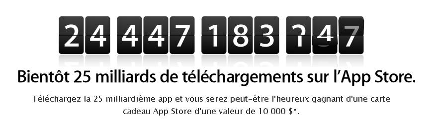 screenshot.553 Apple: 10000$ pour le 25 milliards d'applications!