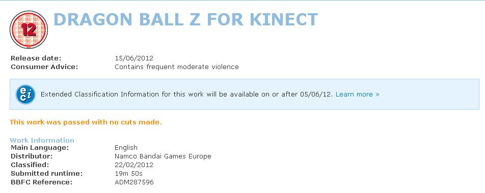 screenshot.561 Un Dragon Ball Z Kinect?