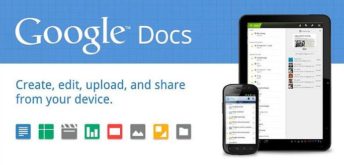 screenshot.562 Android : Google Docs Nouvelle Version