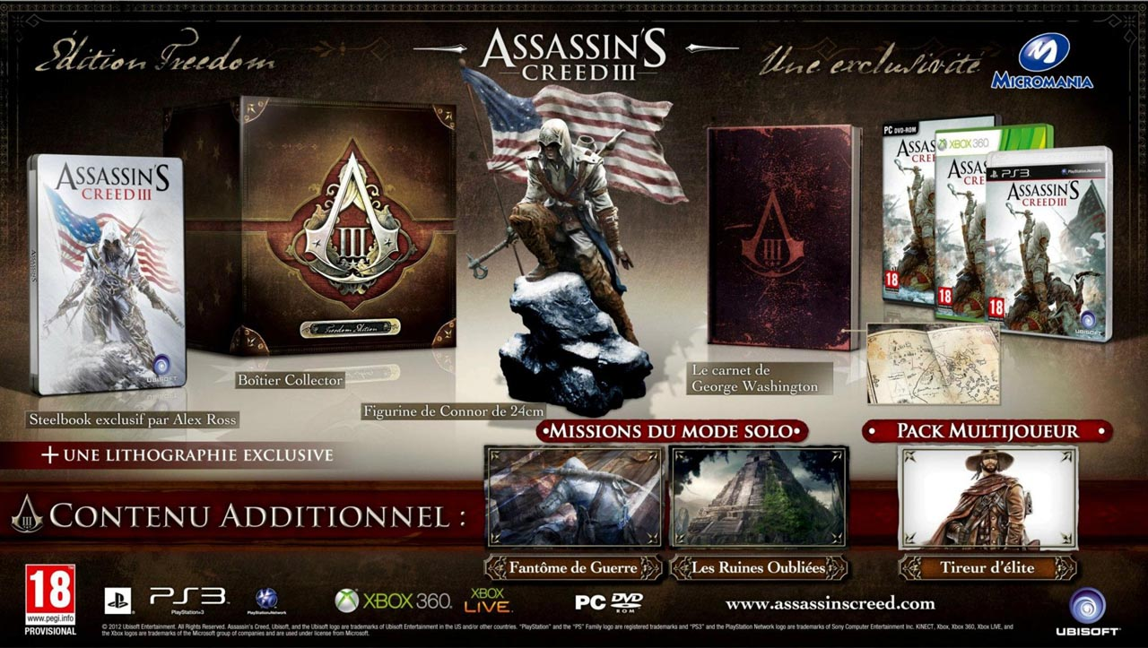 Assassins-Creed-3-edition-freedom-collector Assassins Creed 3: Les collectors se dévoilent