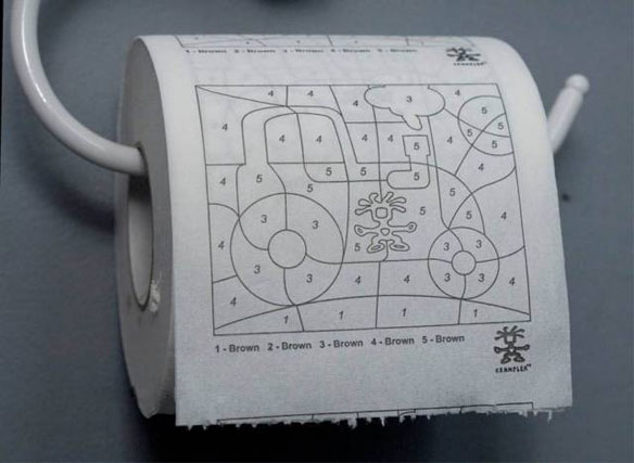 Paint-By-Numbers-Toilet-Paper Geek: Dessinez aux toilettes!