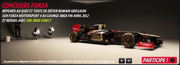 concours-totalf1-romain-grosjean Forza Motorsport 4: Affrontez Grosjean et repartez avec une console xbox