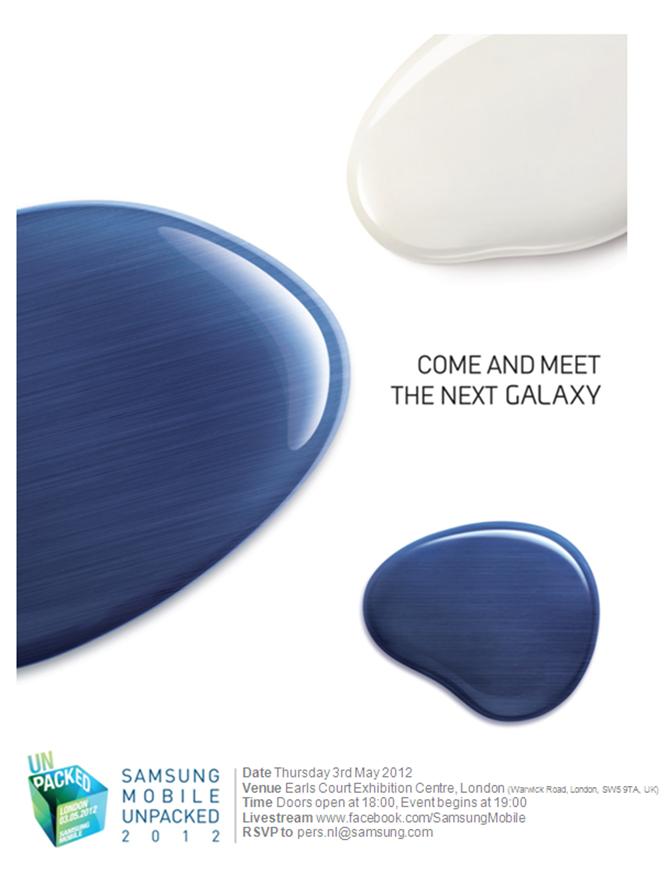 invite_samsung Samsung Galaxy S3 : annonce officielle le 3 mai ?