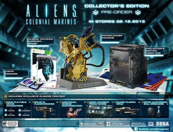 aliens-colonial-marines-edition-collector Aliens Colonial Marines : l'édition collector dévoilée