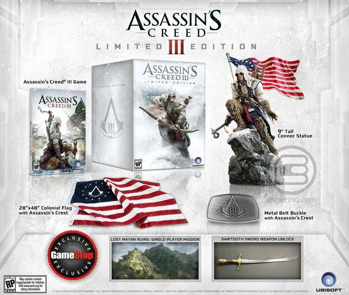 assassin-creed-iii-limited-edition- Assassin's Creed 3: Encore un Collector