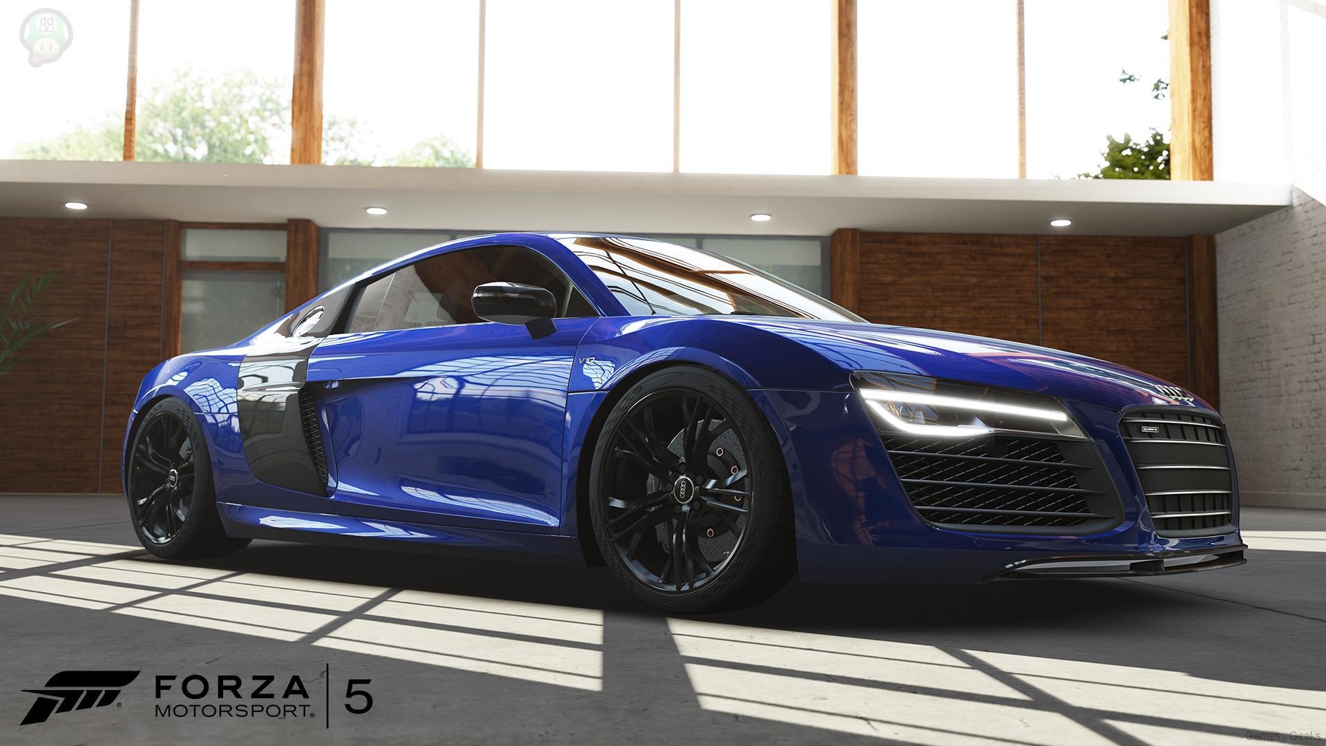 forza5-carreveal-r8v10plus-wm-uukmla Forza 5 : 4 nouvelles voitures dévoilées