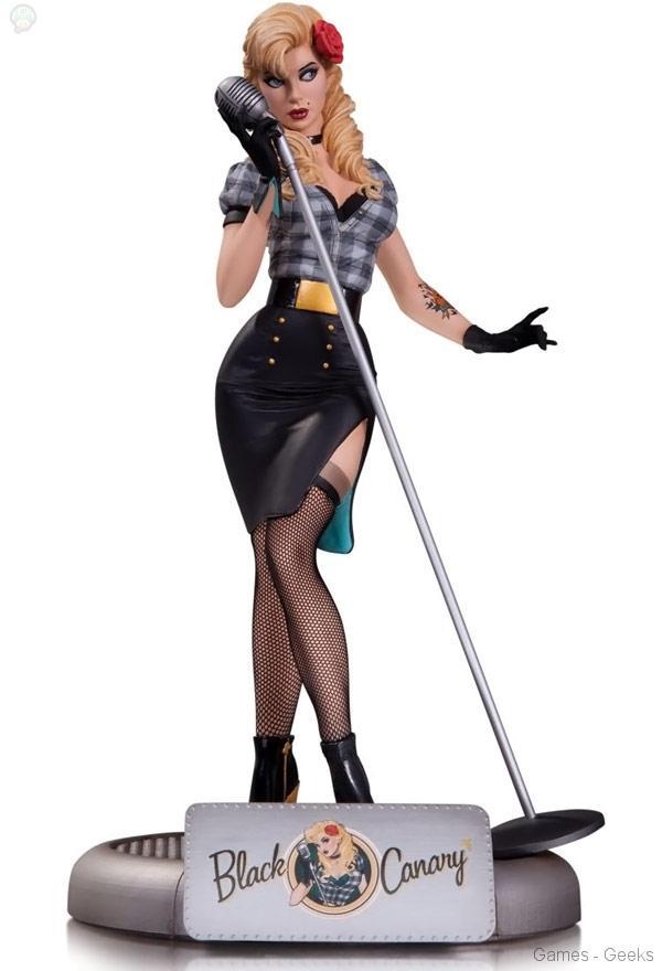 DC-Comics-Bombshells-Black-Canary-Statue DC Comics Bombshells - Statuette Black Canary