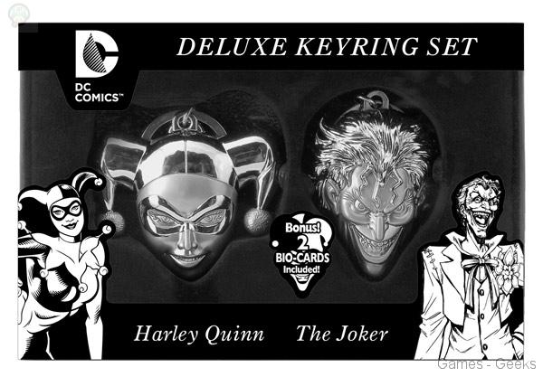 Harley-Quinn-and-Joker-Limited-Edition-Pewter-Key-Chain-Set Figurine et Goodies Harley Quinn