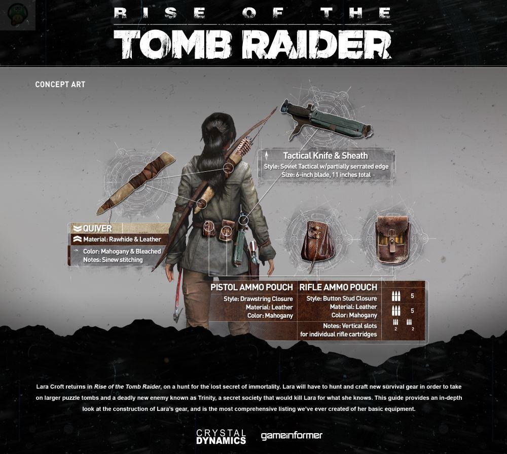rise-of-the-tomb-raider-equip3 Rise of the Tomb Raider : Découvrez l'équipement de Lara en images