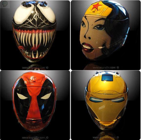 Comic-Book-Character-Motorcycle-Helmets La sélection Geek de la semaine #1