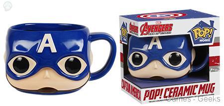 Captain-America Geek : Les mugs et salières Funko Avengers