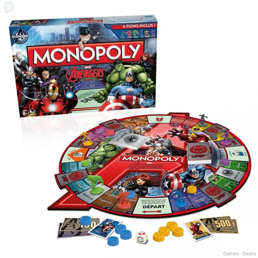 Monopoly-avengers Sélection de monopoly pour les Geeks