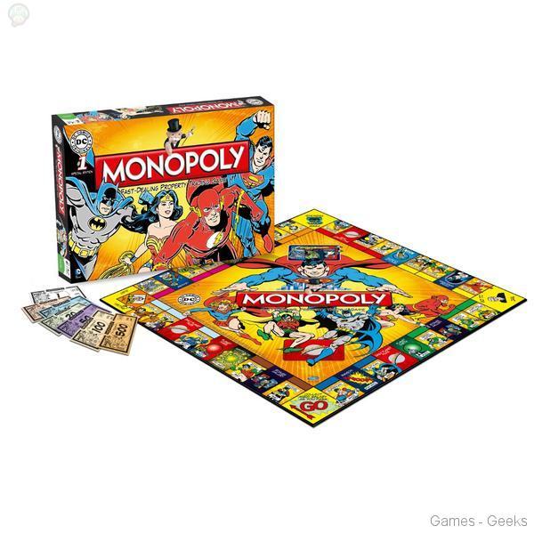 Monopoly-comics Sélection de monopoly pour les Geeks