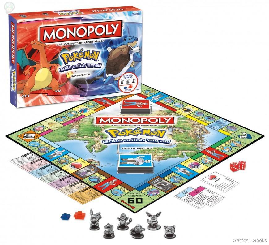 Monopoly-pokemon Sélection de monopoly pour les Geeks