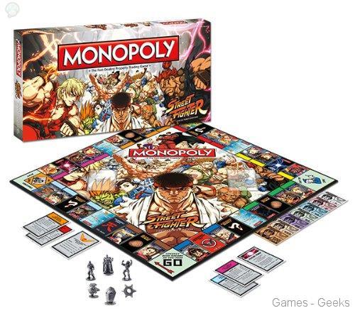 Monopoly-street-fighter Sélection de monopoly pour les Geeks