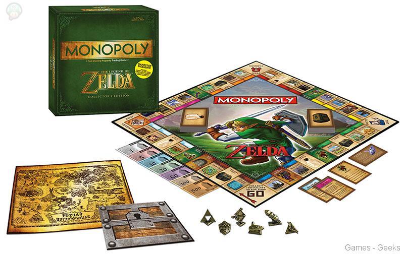 Monopoly-zelda Sélection de monopoly pour les Geeks