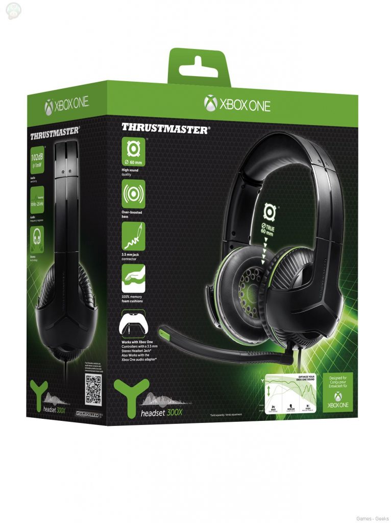 PackshotY300X-766x1024 Y-300X: Le casque gaming de Thrustmaster sous licence officielle Xbox One