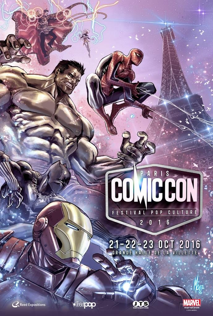 2016-Official-poster-def-40x60-ComicCon Le Comic Con Paris 2016 dévoile son affiche