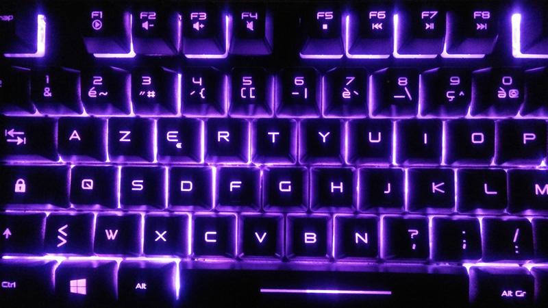 EliteK10_led_violet Test - Clavier Gamer Elite-K10