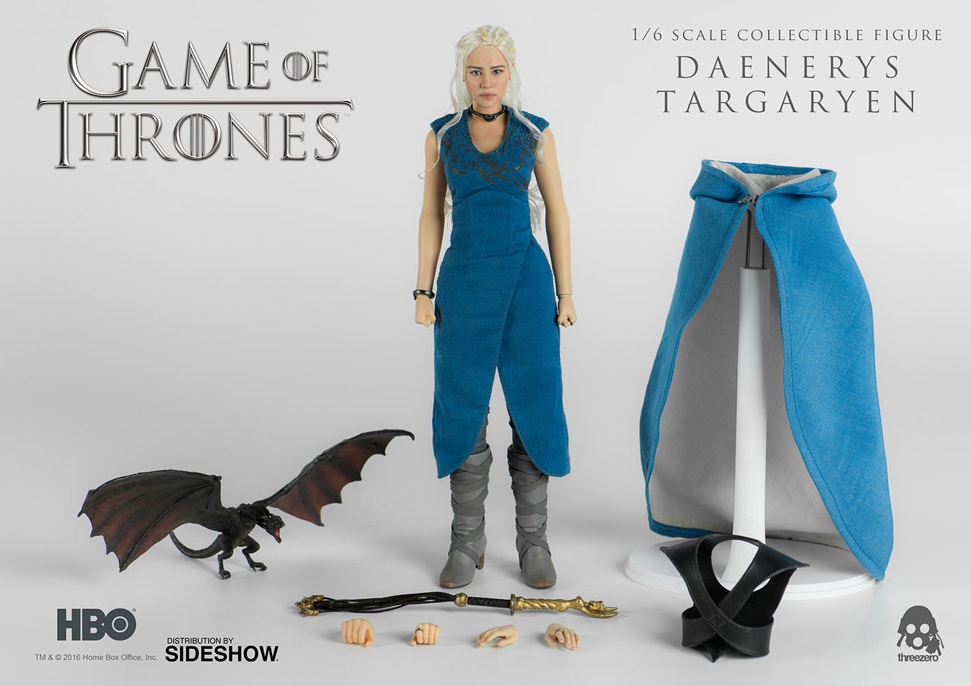 game-of-thrones-daenerys-targaryen-sixth-scale-figure-threezero-902928-01 Figurine - Game of Thrones - Daenerys