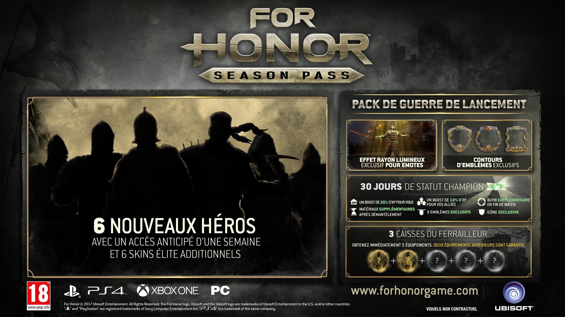 For_Honor_Season_Pass_Mock_Up_PR_170202_6pm_CET_FR_1486046320 Découvrez le season pass de For Honor