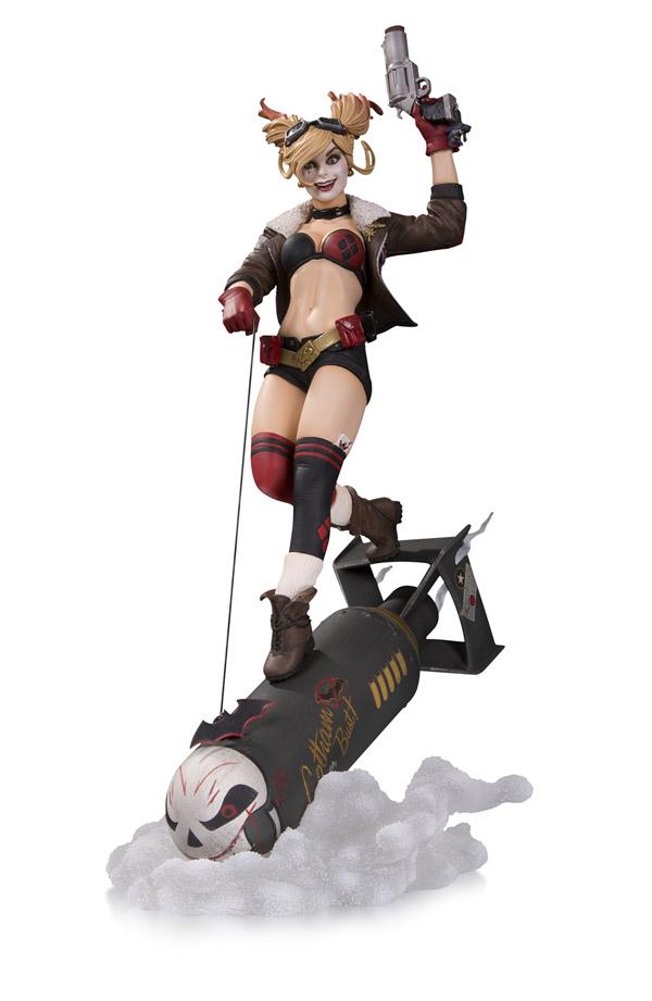 DC-Bombshells-Harley-Quinn-Deluxe-Statue Nouvelle sélection de figurines Harley Quinn