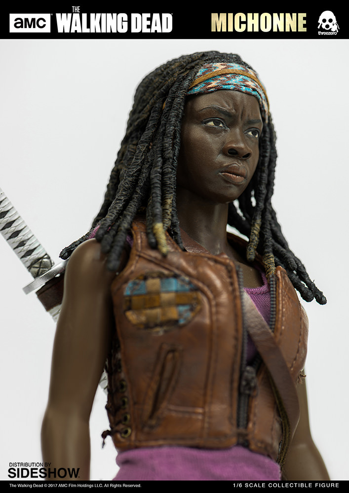 amc-the-walking-dead-michonne-sixth-scale-threezero-902991-10 Figurine - The Walking Dead - Michonne et ses rôdeurs