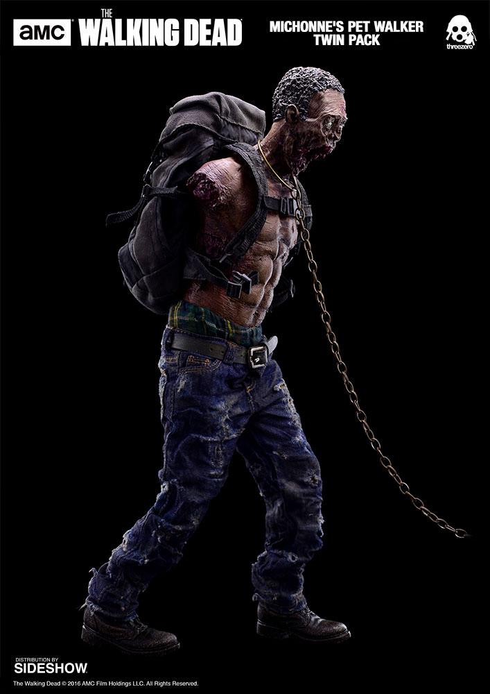 amc-the-walking-dead-michonnes-pet-walker-twin-pack-sixth-scale-threezero-902992-02 Figurine - The Walking Dead - Michonne et ses rôdeurs