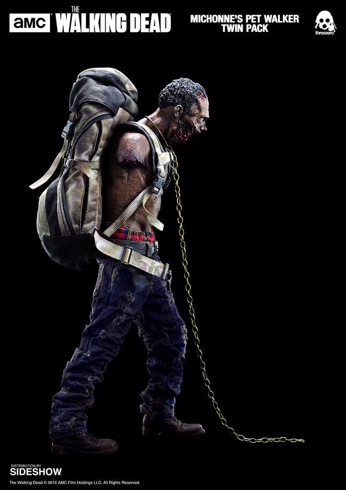 amc-the-walking-dead-michonnes-pet-walker-twin-pack-sixth-scale-threezero-902992-03 Figurine - The Walking Dead - Michonne et ses rôdeurs