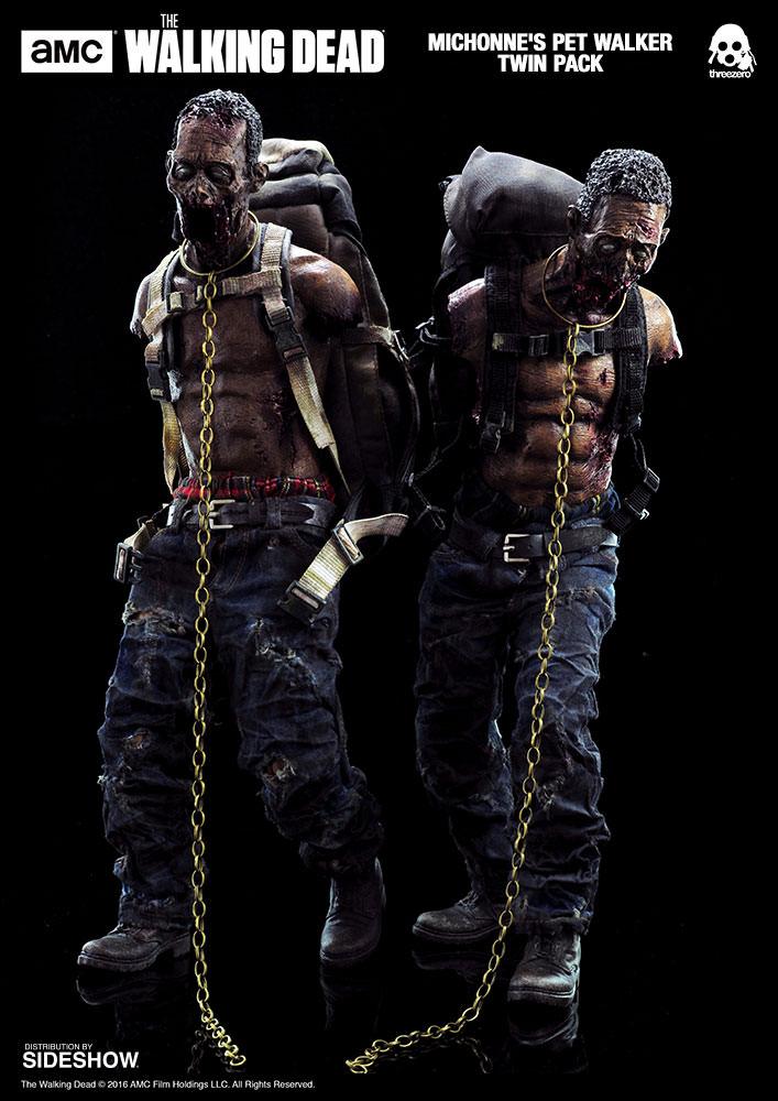 amc-the-walking-dead-michonnes-pet-walker-twin-pack-sixth-scale-threezero-902992-05 Figurine - The Walking Dead - Michonne et ses rôdeurs