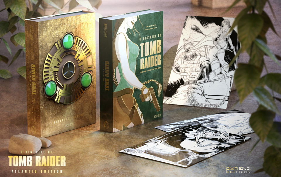 collector-atlantis-lhistoire-de-tomb-raider1 Présentation du livre L'Histoire de Tomb Raider - L'odyssée de Lara Croft des éditions Pix'n Love