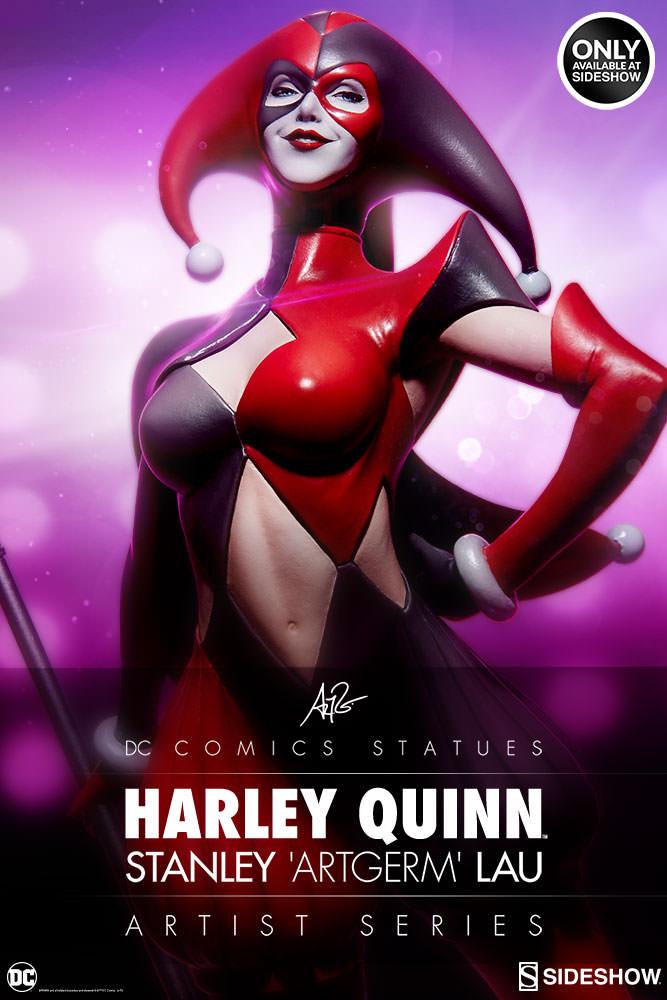 dc-comics-harley-quinn-stanley-artgerm-lau-artist-series-statue-200430-01 Figurines - Harley Quinn - Catwoman et Poison Ivy vues par Artgerm