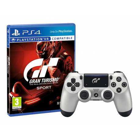 expir bon plan manette dualshock 4 silver gt sport gran turismo sport sur ps4 65. Black Bedroom Furniture Sets. Home Design Ideas