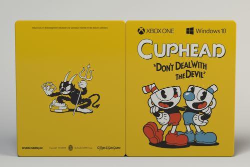 Steelbook-Cuphead-Xbox-One-Code-de-telechargement1 Cuphead édition steelbook disponible à la commande