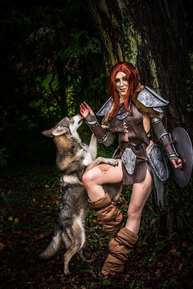 aela_with_wolf_by_mowkycosplay-daifi5x MICM 2018 - Présentation de Mowky Cosplay (Magic 2018) #13