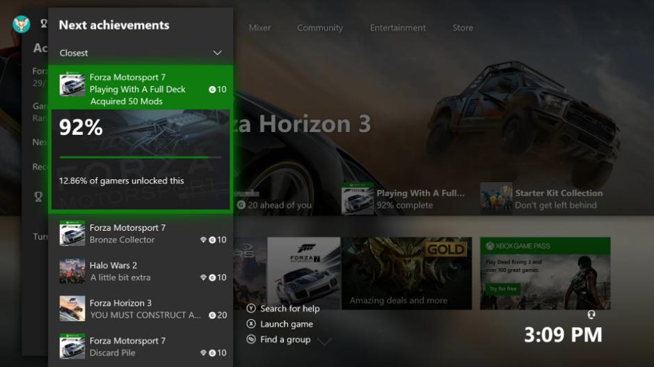 Microsoft veut un système de succès plus poussé — Xbox One