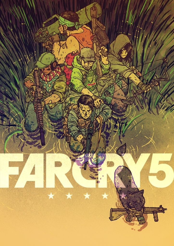FAR_CRY_5_Geek-Art_GUILLAUME_SINGELIN_1521108668_724x1024-724x1024 Far Cry 5 - L'univers du jeu vu par 10 artiste de Geek-Art