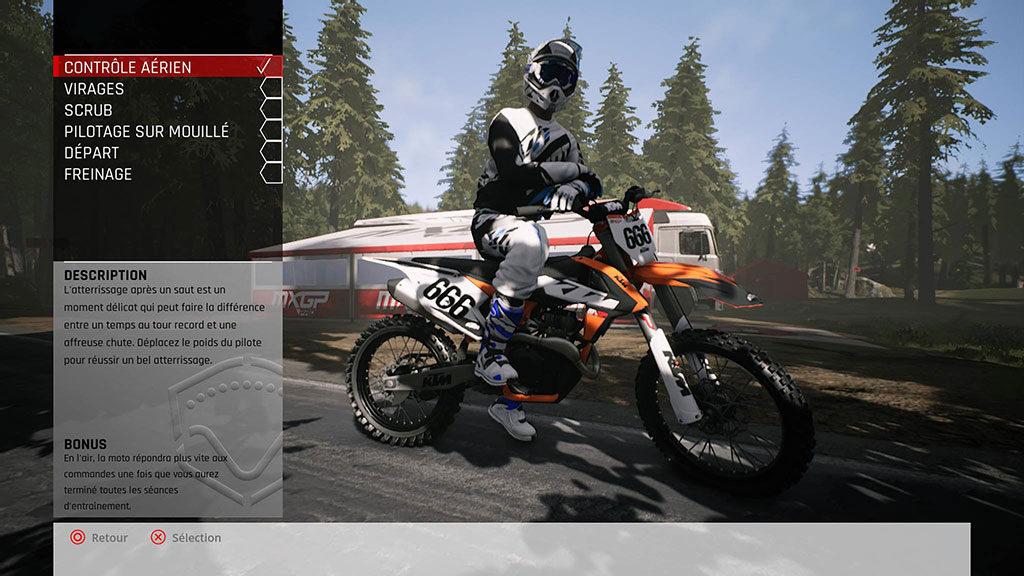 MXGP_MenuEntrainement-1024x576 Mon avis sur MXGP Pro - La boue, ça colle mais c'est fun !