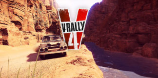 VRally4 voiture rallye canyon