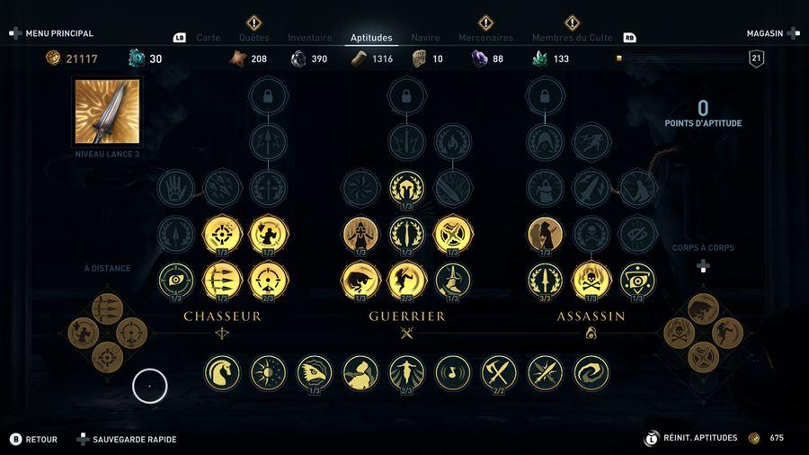 ACO_ArbreTalents Mon avis sur Assassin's Creed Odyssey - Un voyage dans le pays des mythes et légendes