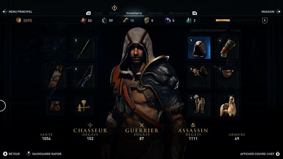 ACO_Inventaire Mon avis sur Assassin's Creed Odyssey - Un voyage dans le pays des mythes et légendes