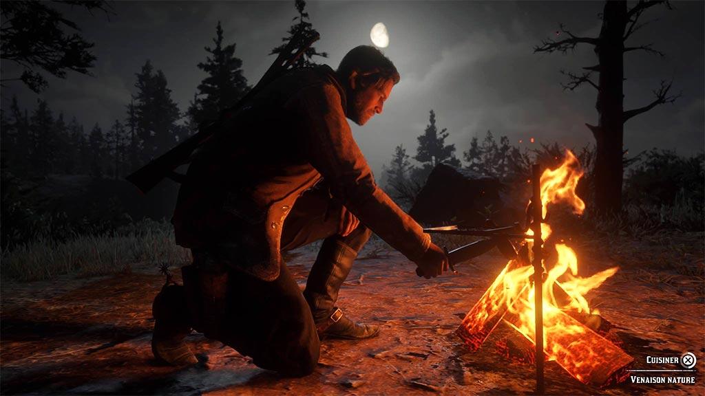 feu_camp_cuisine Mon avis sur Red Dead Redemption II - Paré pour la grande épopée ?