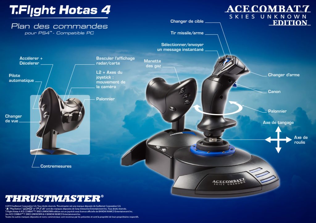 Mapping-Hotas4_AC7_FR-1024x724 Thrustmaster en dit plus sur ses nouveaux joysticks T.Flight Hotas Ace Combat 7 Skies Unknown Edition