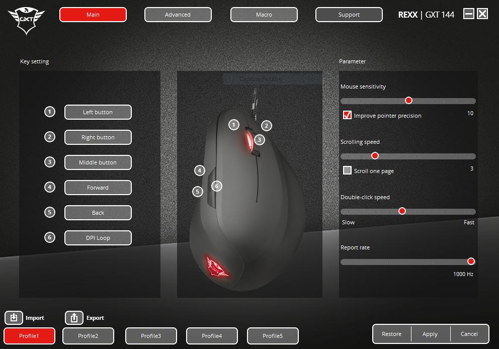 GXT-144-REXX-1 Présentation de la souris gaming GXT 144 REXX de Trust