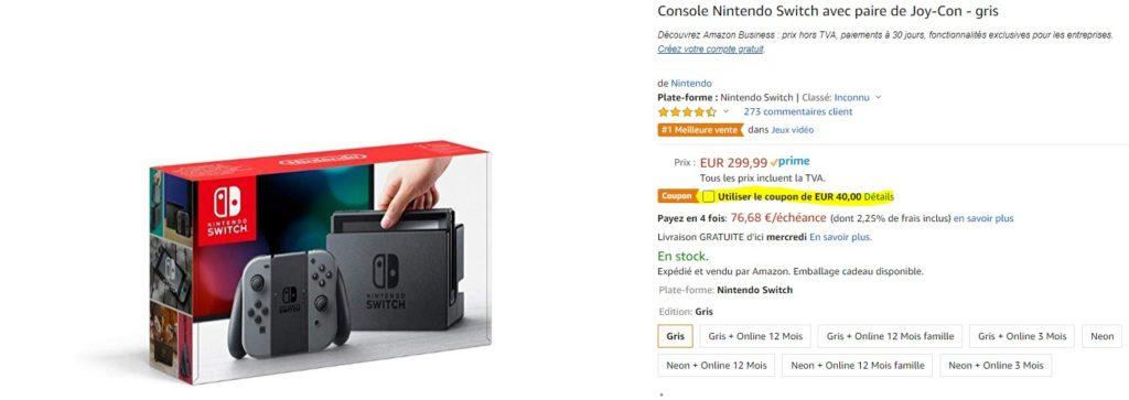Switch249-1024x363 Bon Plan - Nintendo Switch à partir de 258.99€