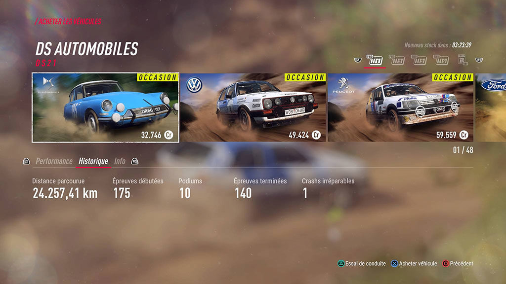 Dirt_voitures-occase-1024x576 Mon avis sur DiRT Rally 2.0 - DiRT c'est plus fort que toi !